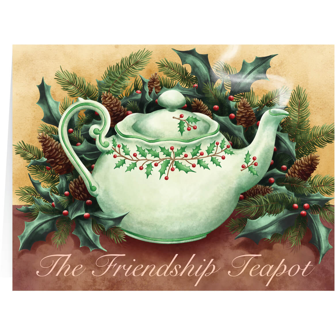 Personalized Teapot Christmas Card Set of 20 - Miles Kimball