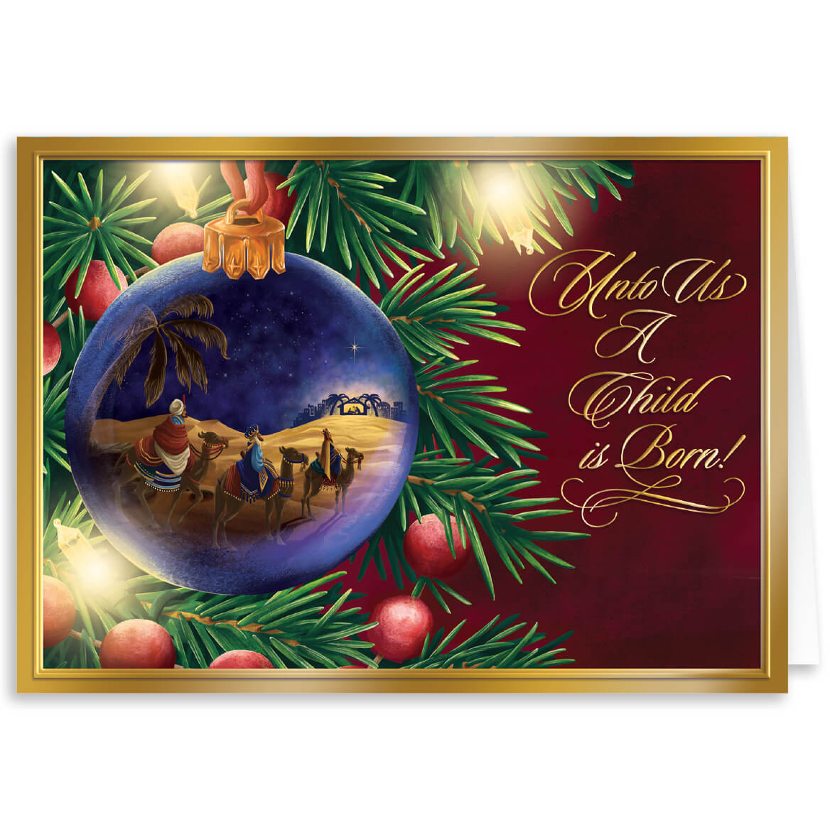 Personalized Nativity Christmas Card Set of 20 - Miles Kimball