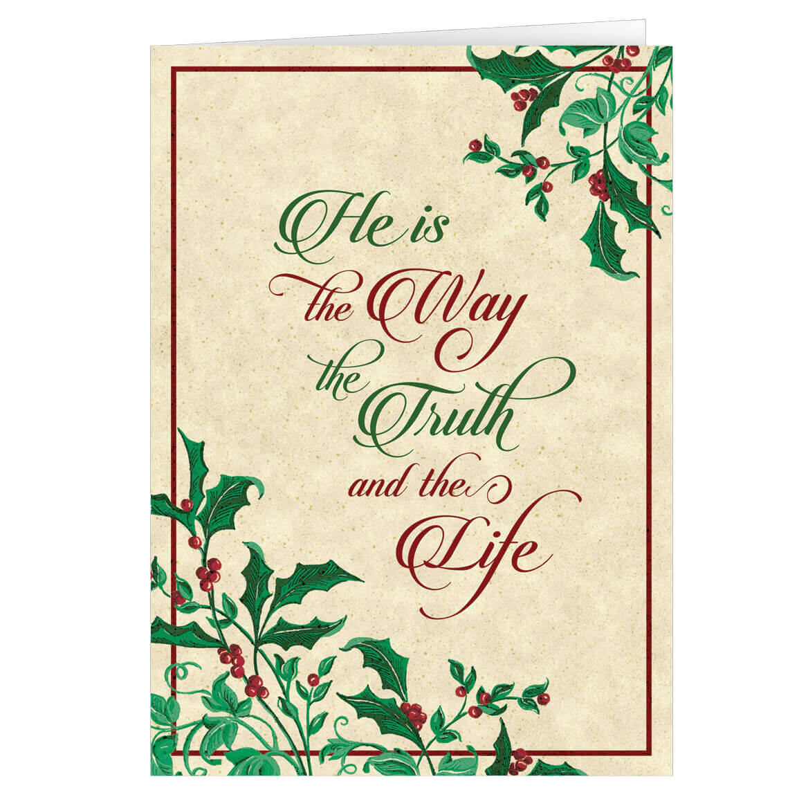 Personalized He Is The Way Christmas Card Miles Kimball