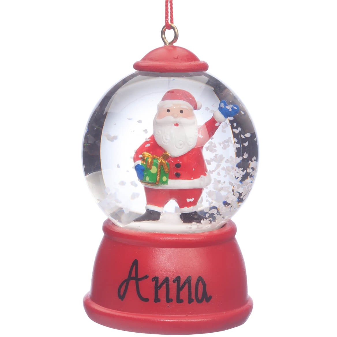 Personalized Santa Waterglobe Ornament-360318