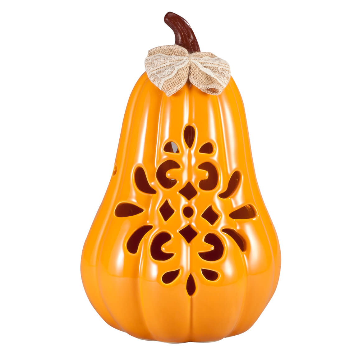 Large Ceramic Decorative Pumpkin