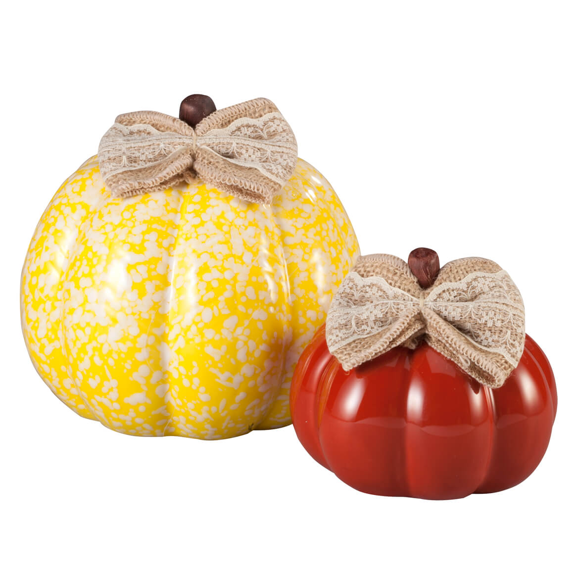 Small and Medium Ceramic Decorative Pumpkins