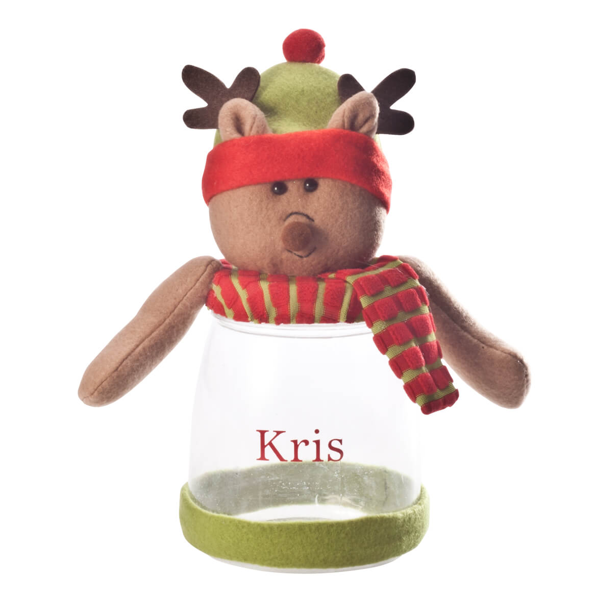 Personalized Reindeer Treat Jar