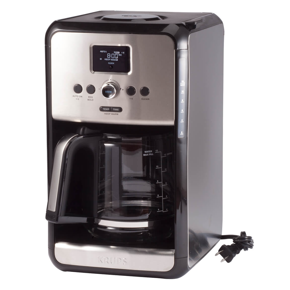 Krups Savoy Programmable 12 Cup Stainless Steel Coffee Maker