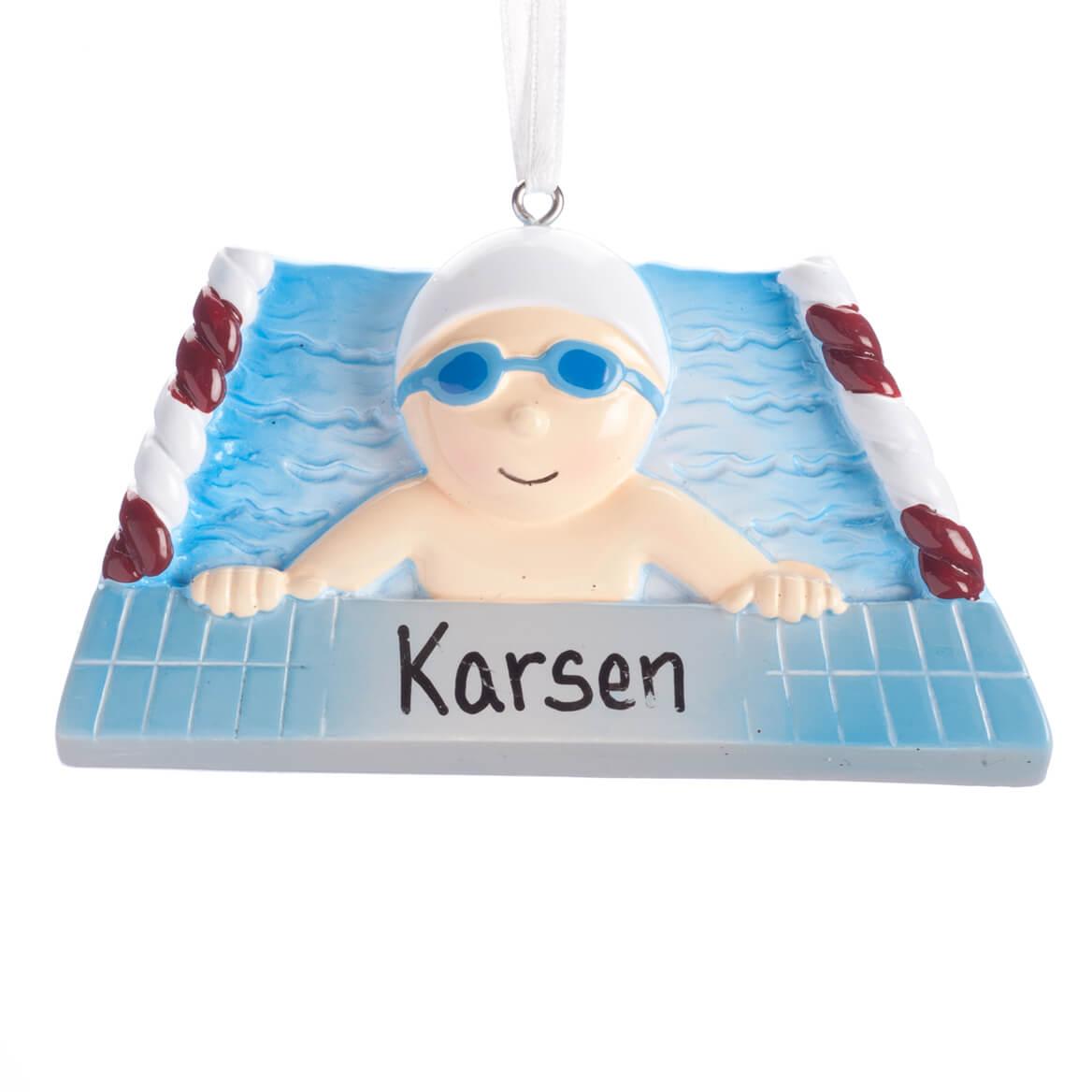 Personalized Swimmer Ornament-360480
