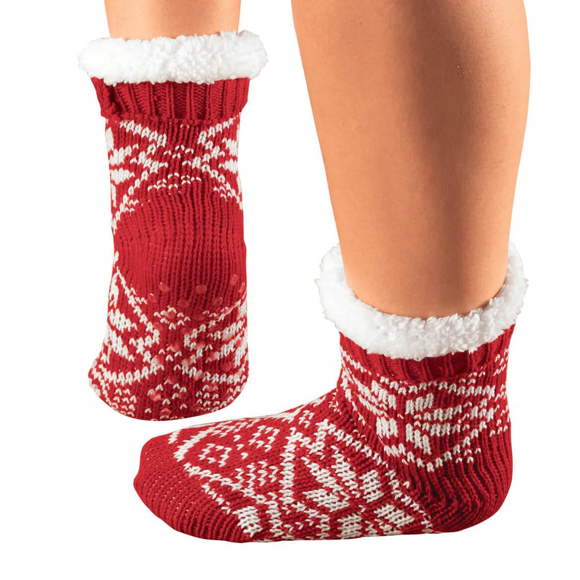 Snowflake Slipper Socks, 1 Pair