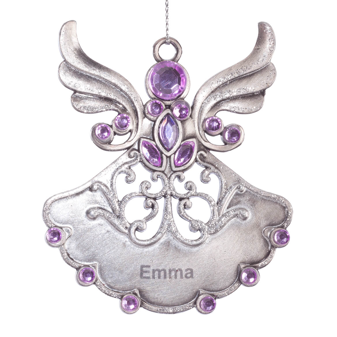 personalized birthstone angel pewter ornament miles kimball