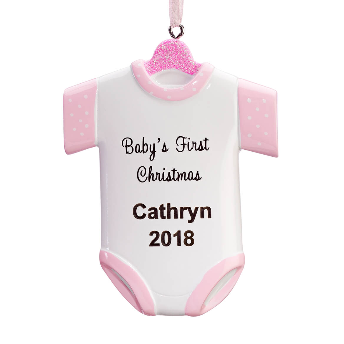 personalized babys first christmas onesie ornament