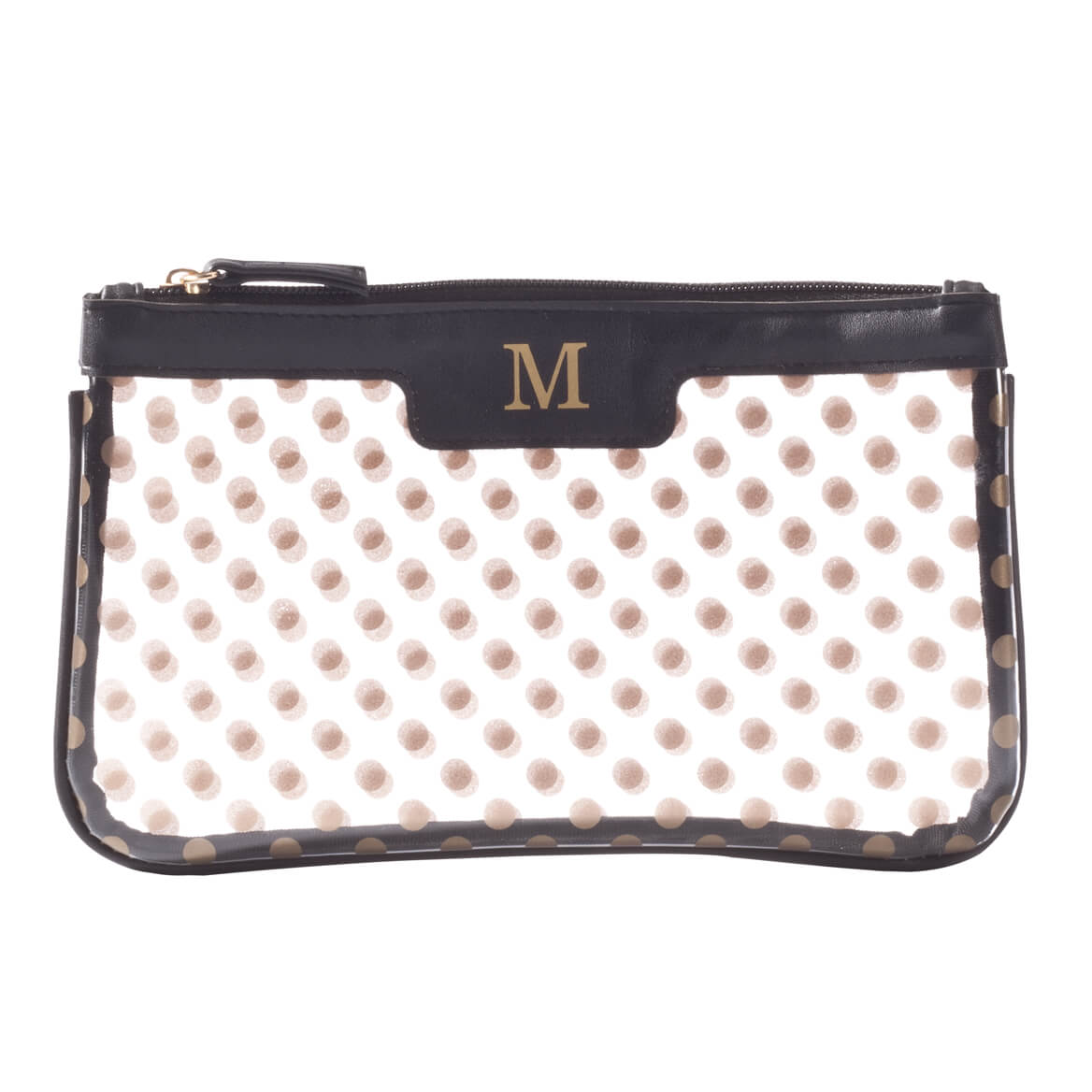 Personalized Polka Dot Clear Cosmetic Bag