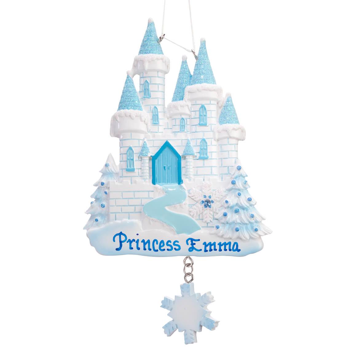 Personalized Blue Princess Castle Ornament-360898