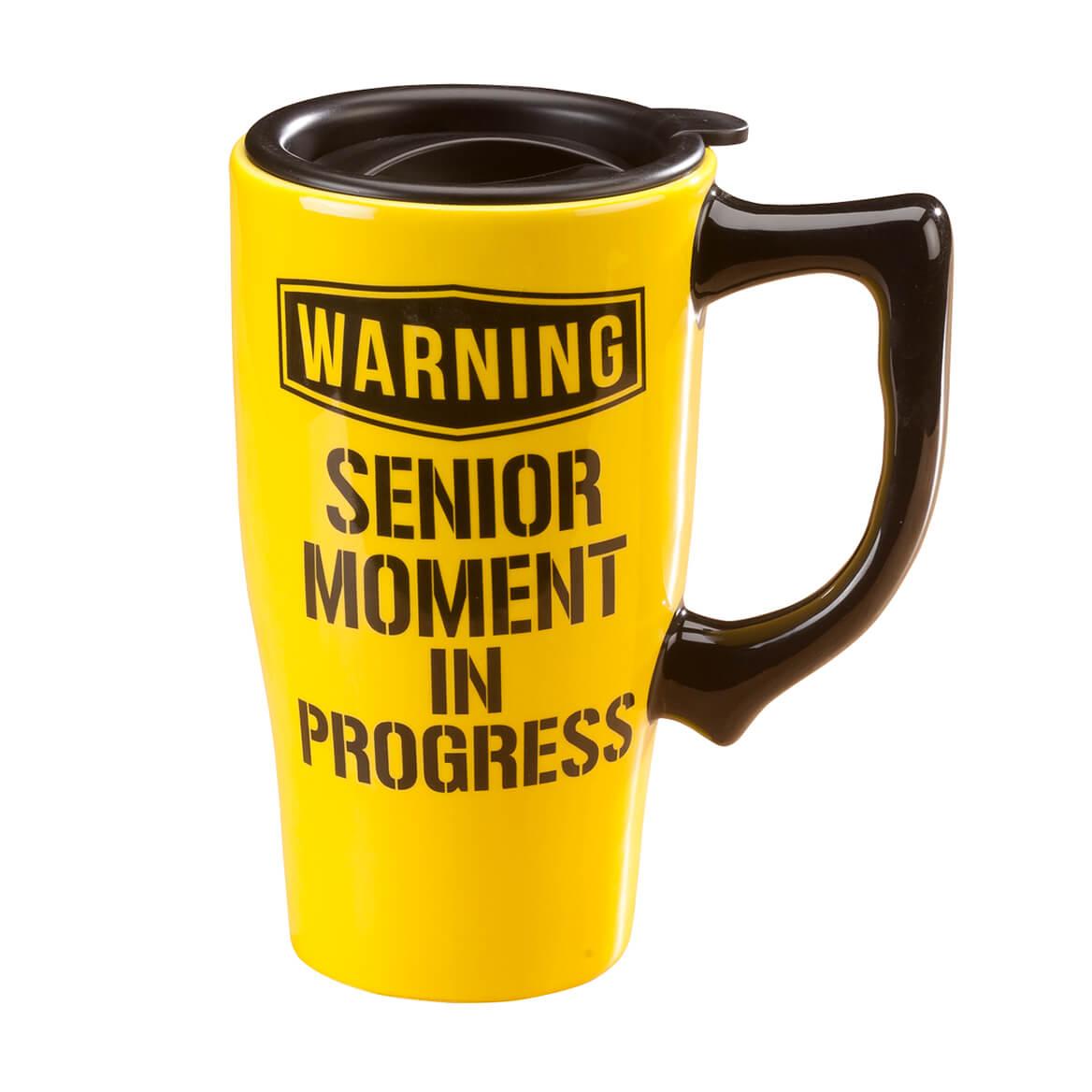 Travel Mug Make Senior Moment in Progress