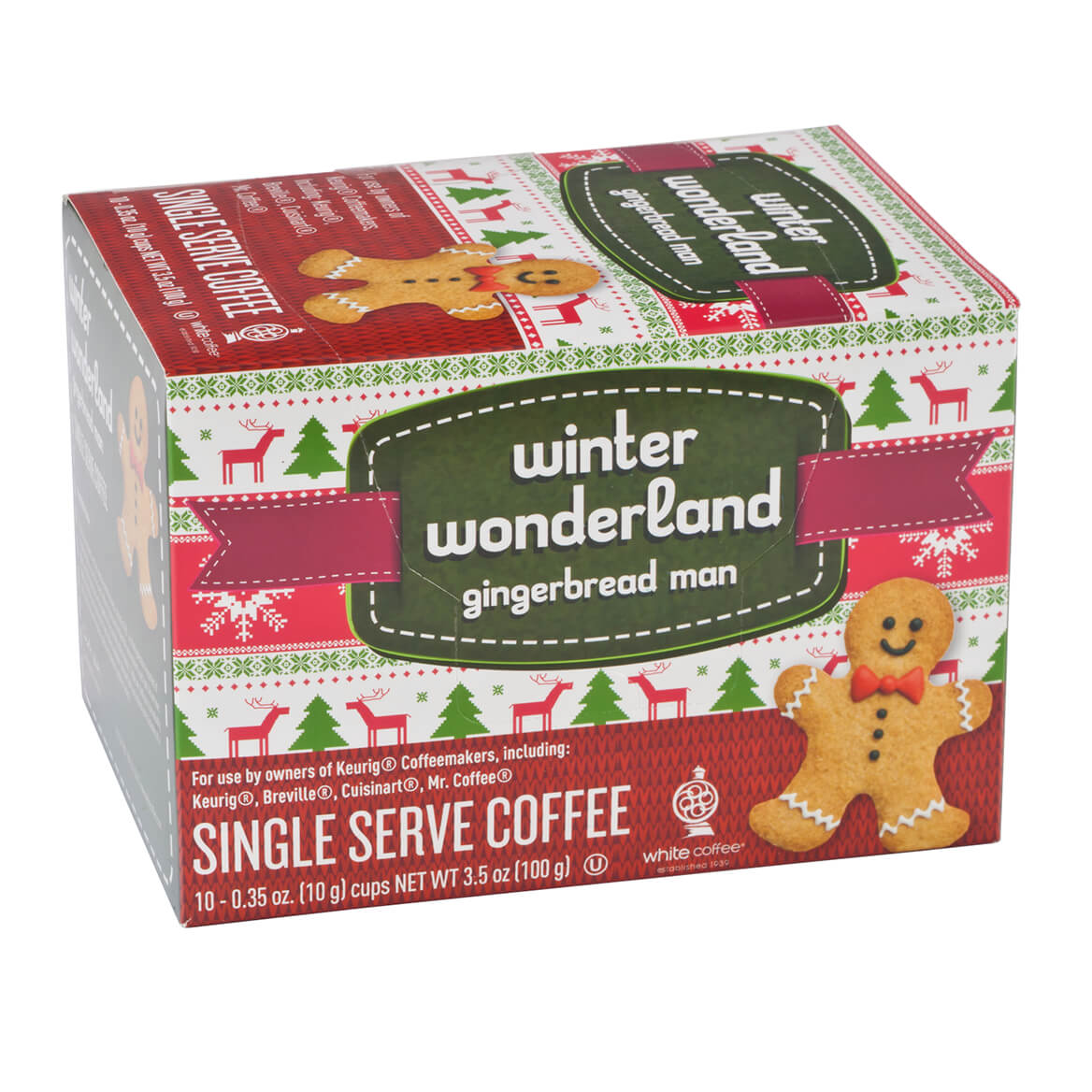 Gingerbread Man Single Serve Coffee Set of 10