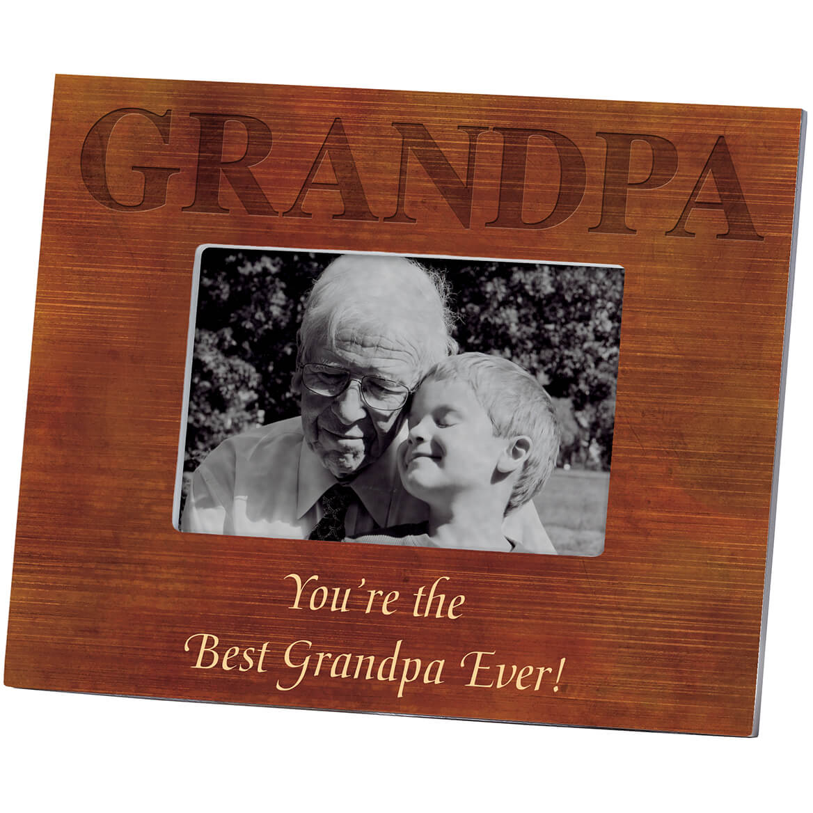 Personalized Woodgrain Grandpa Frame-361177