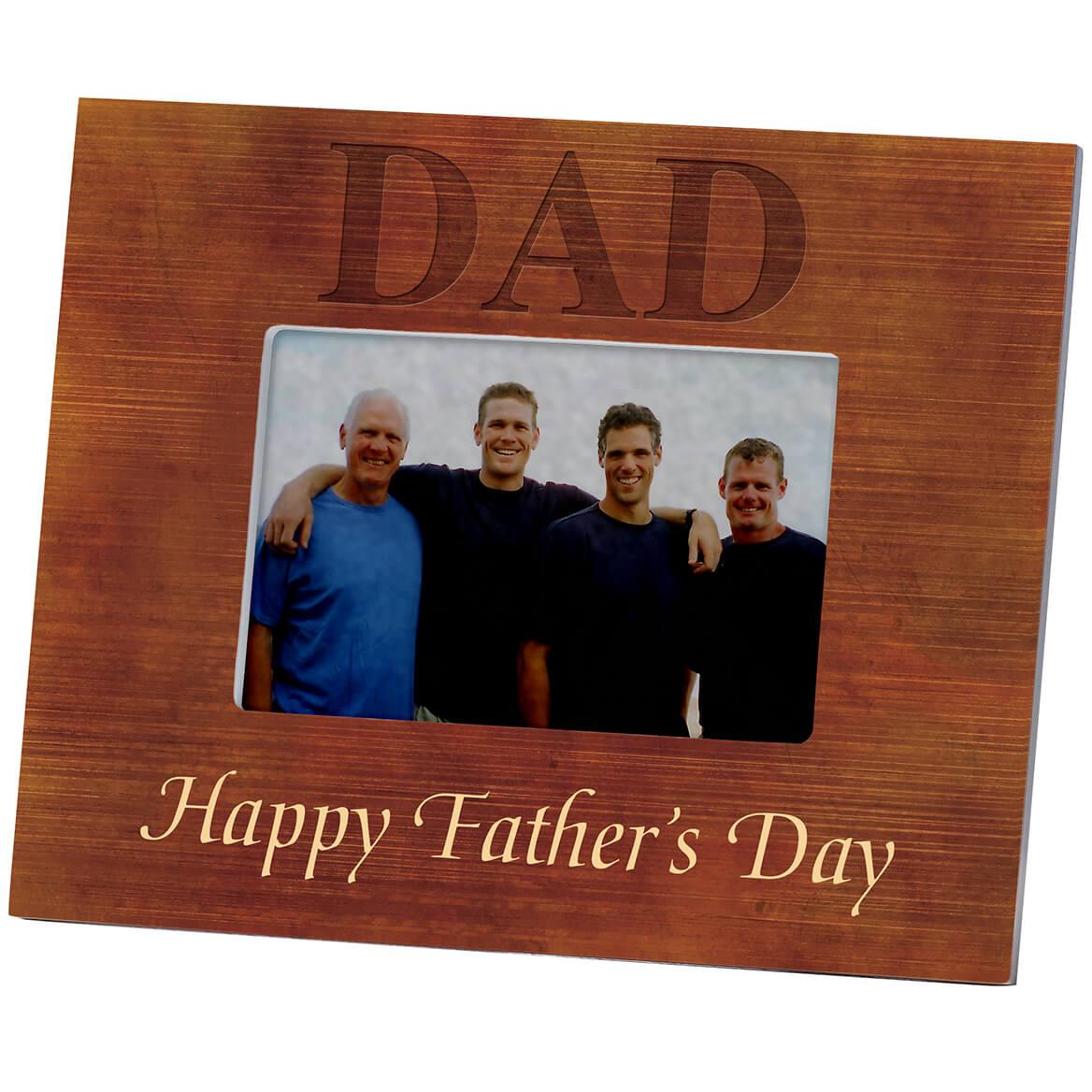 Personalized Woodgrain Dad Frame-361180