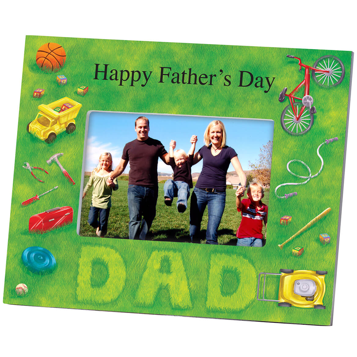 Personalized Lawn Words Dad Frame-361188