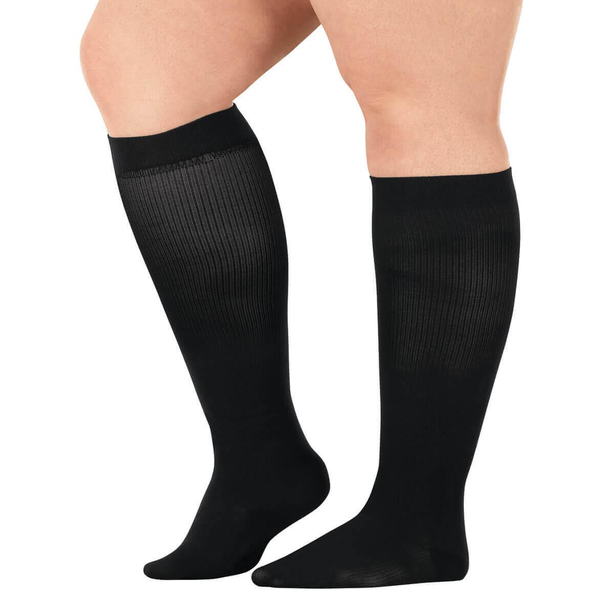 Healthy Steps™ Wide Calf Compression Socks 8-15 mmHg, 3 Pair