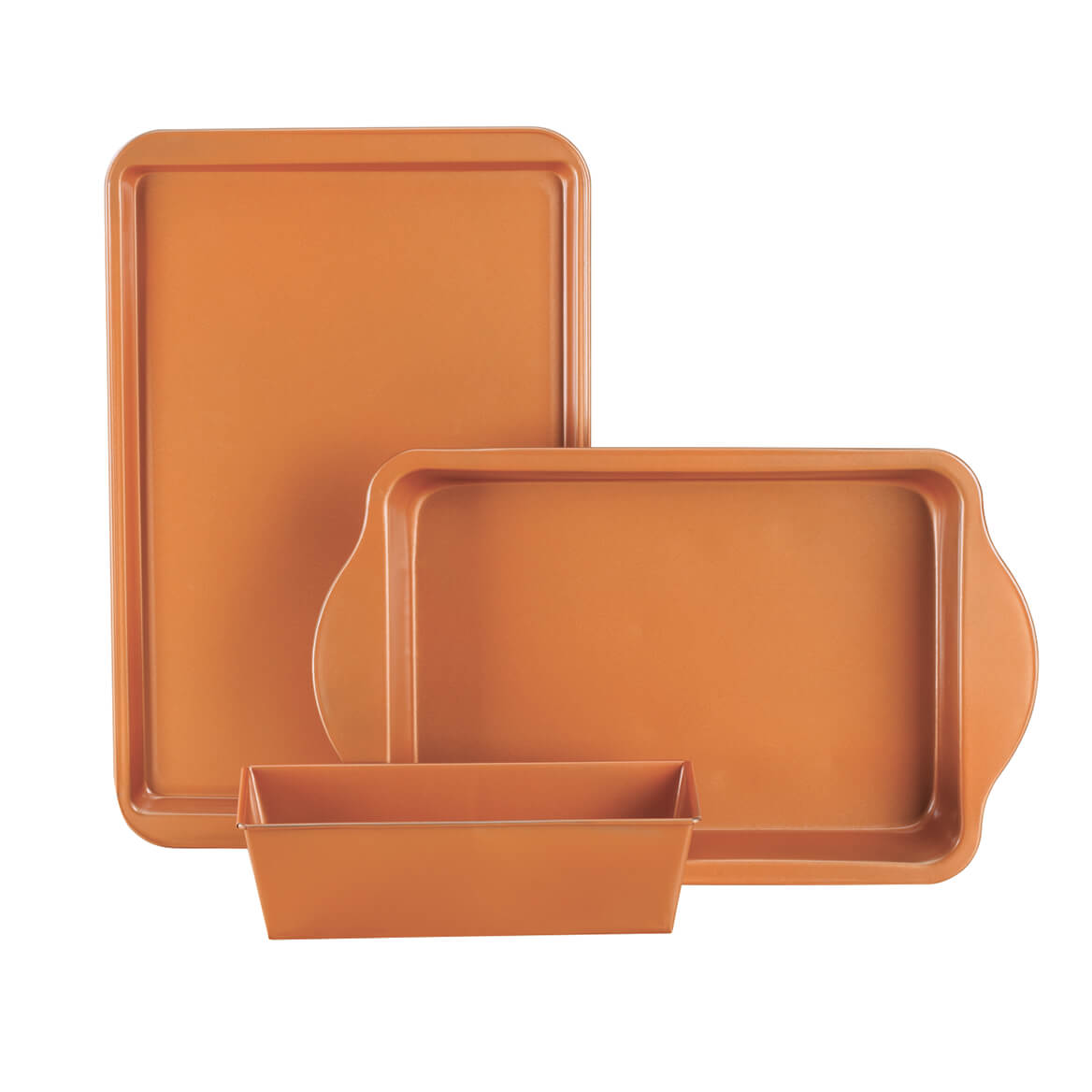 Ceramic Copper Baking Set, 3 Piece