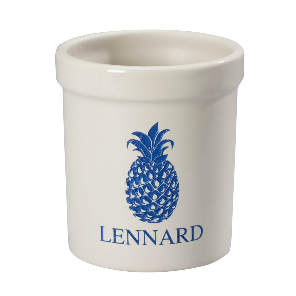 Personalized Pineapple Etched Crock 1 Quart