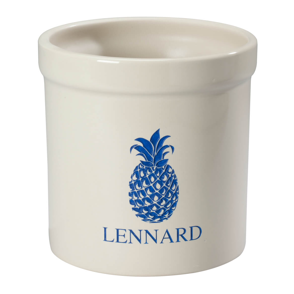 Personalized Pineapple Etched Crock 2 Quart