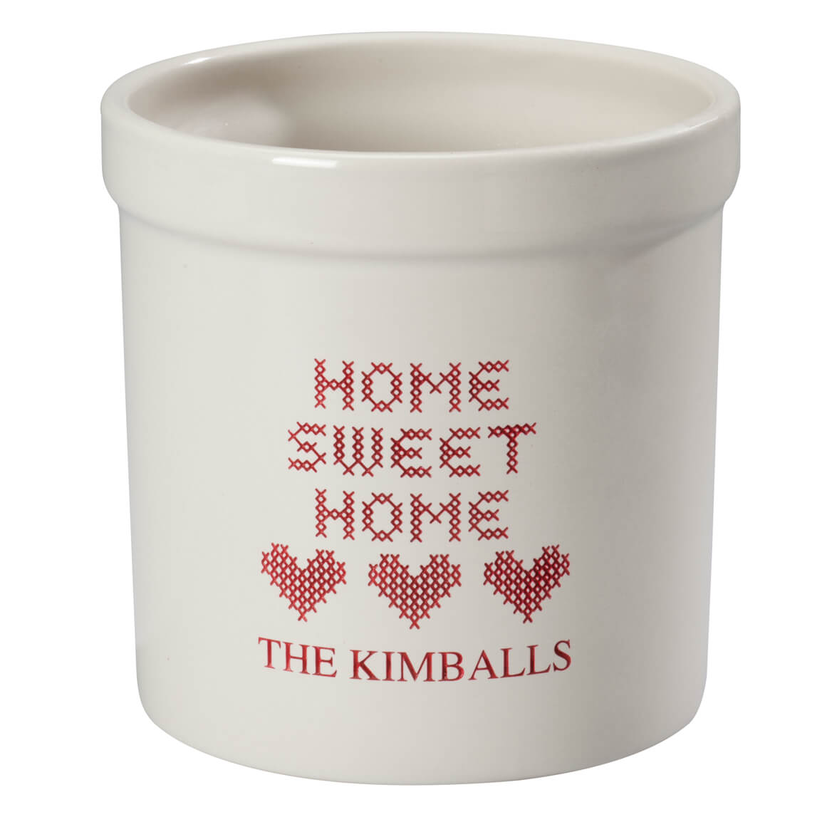 Personalized Home Sweet Home Etched Crock 2 Quart