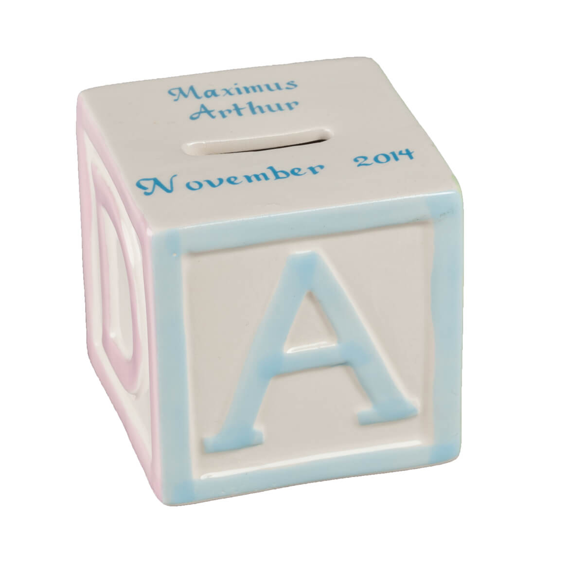 Personalized Alphabet Block Bank-361778