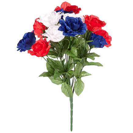 Artificial flowers miles kimball patriotic rose bush bouquet by oakridge outdoor 361816 mightylinksfo