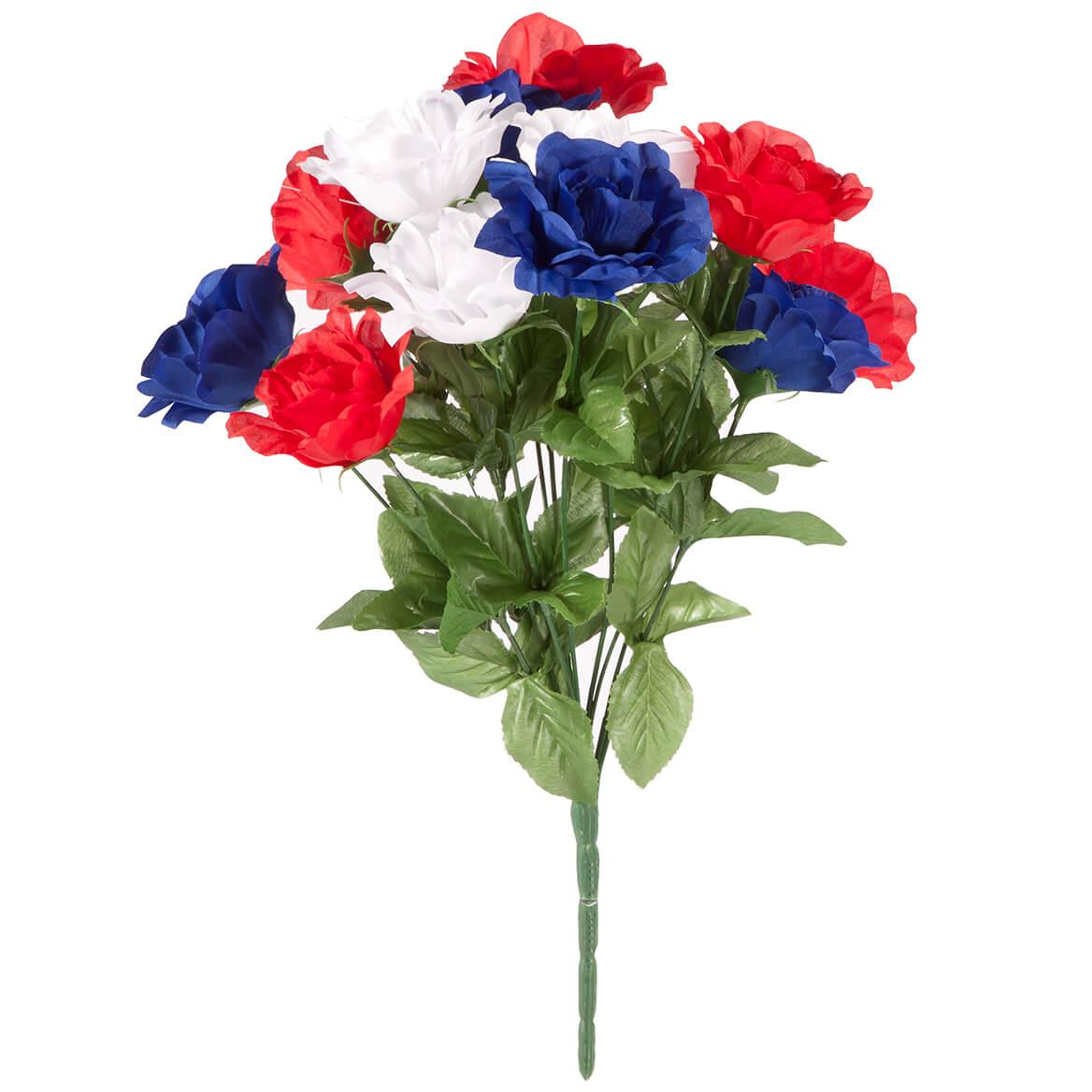 Patriotic Rose Bush Bouquet by Oakridge Outdoor™