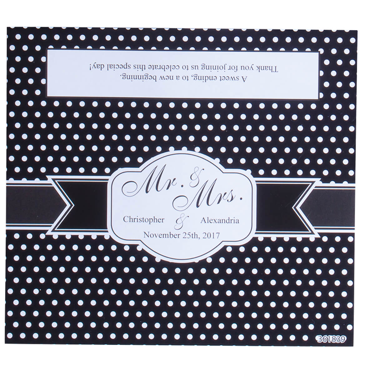 Personalized Candy Bar Dot Wedding Favor Wrapper Set of 24