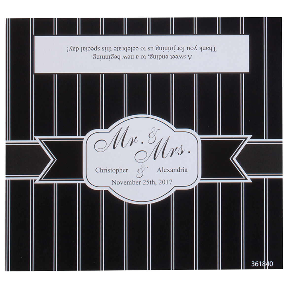 Personalized Candy Bar Wrappers Stripe Wedding Set of 24