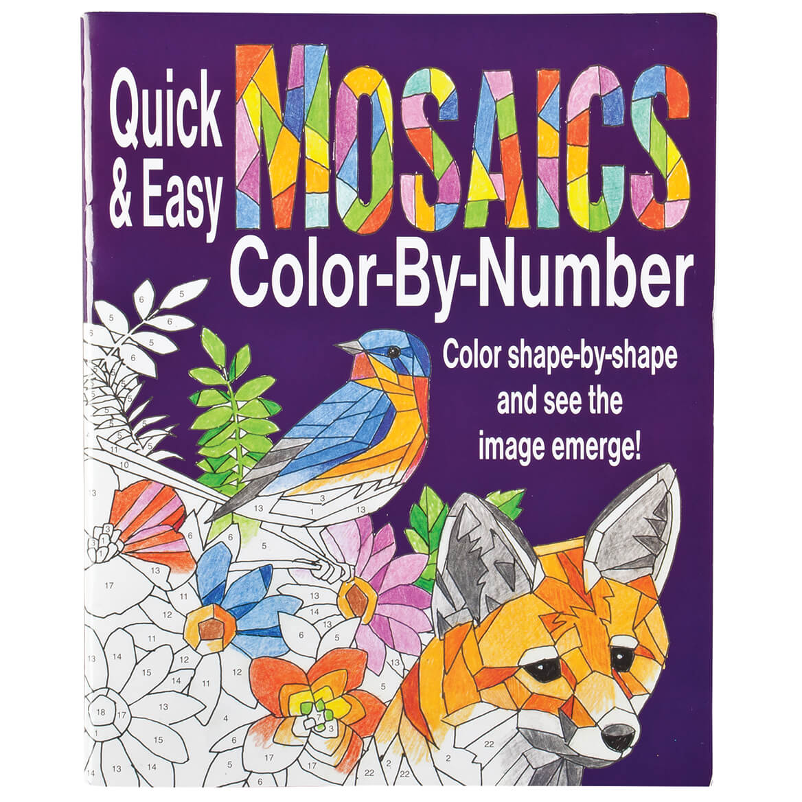 Quick and Easy Mosaics Color-By-Number Book-361848