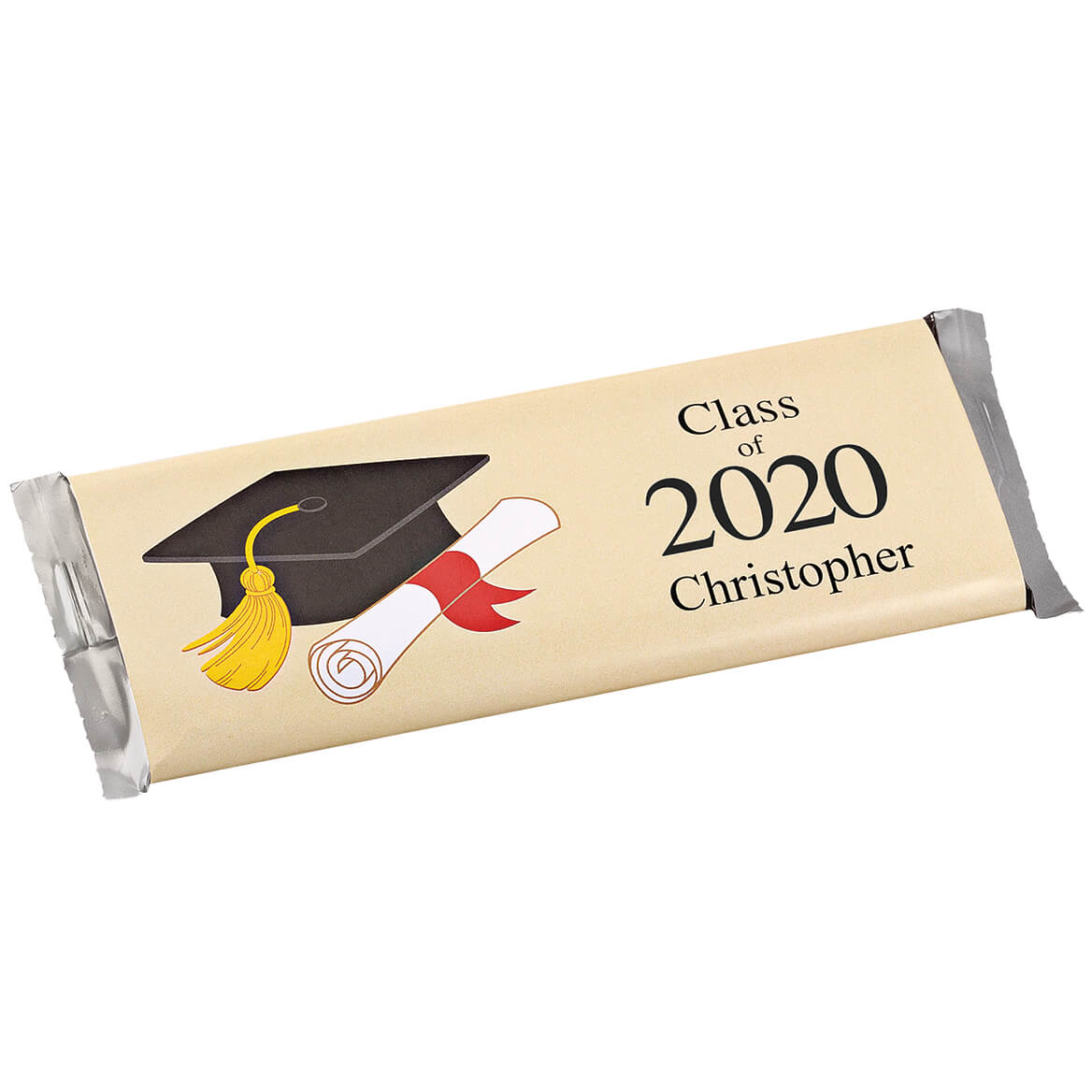Personalized Candy Bar Wrappers Graduation Hat Set of 24
