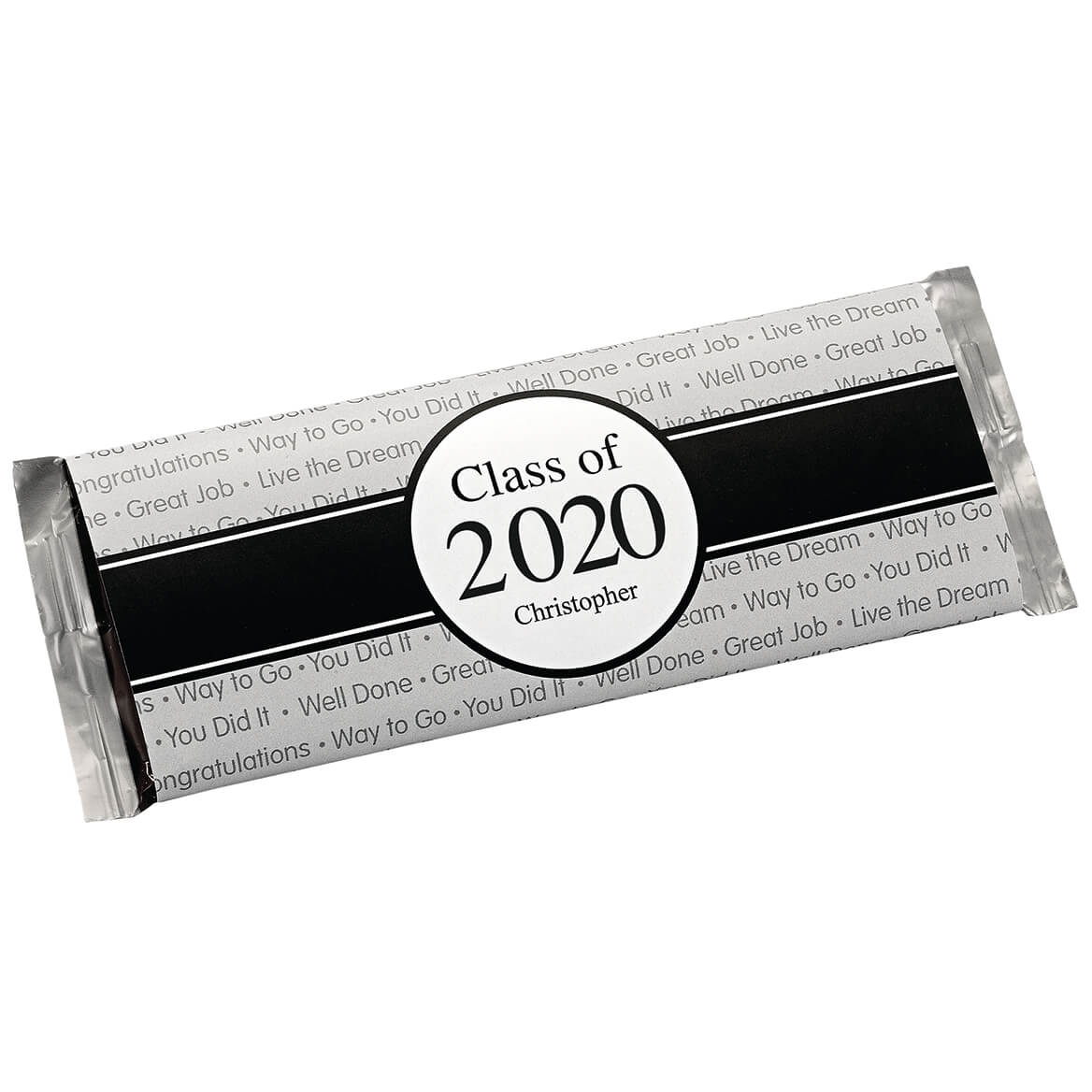 Personalized Candy Bar Wrappers Graduation Ribbon Set of 24