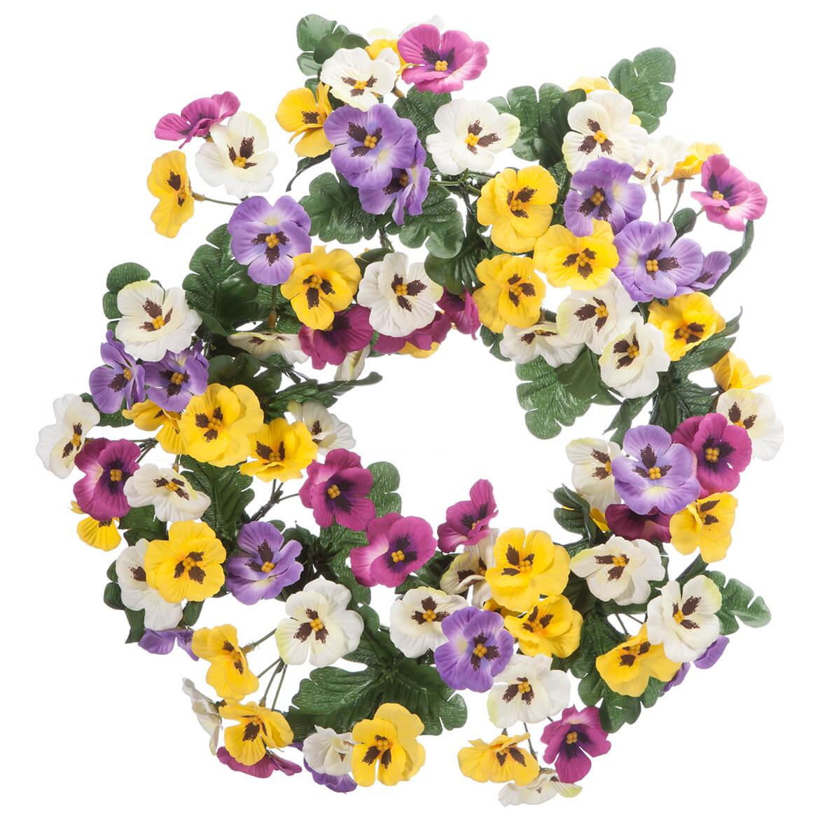"""14"""" Pansy Wreath by OakRidge™-362068"""