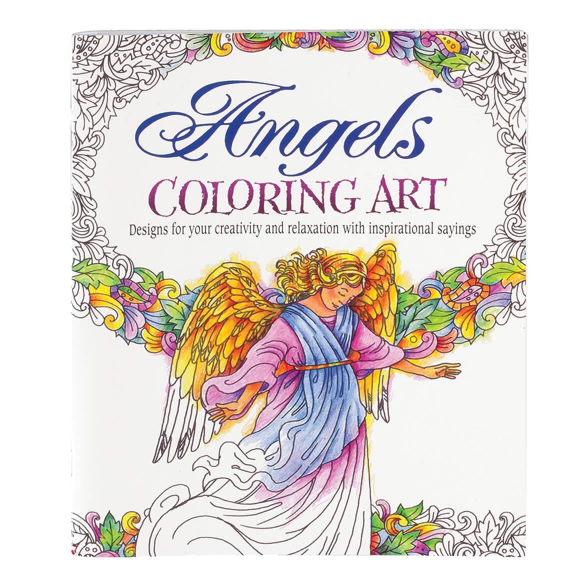 Angels Art Coloring Book