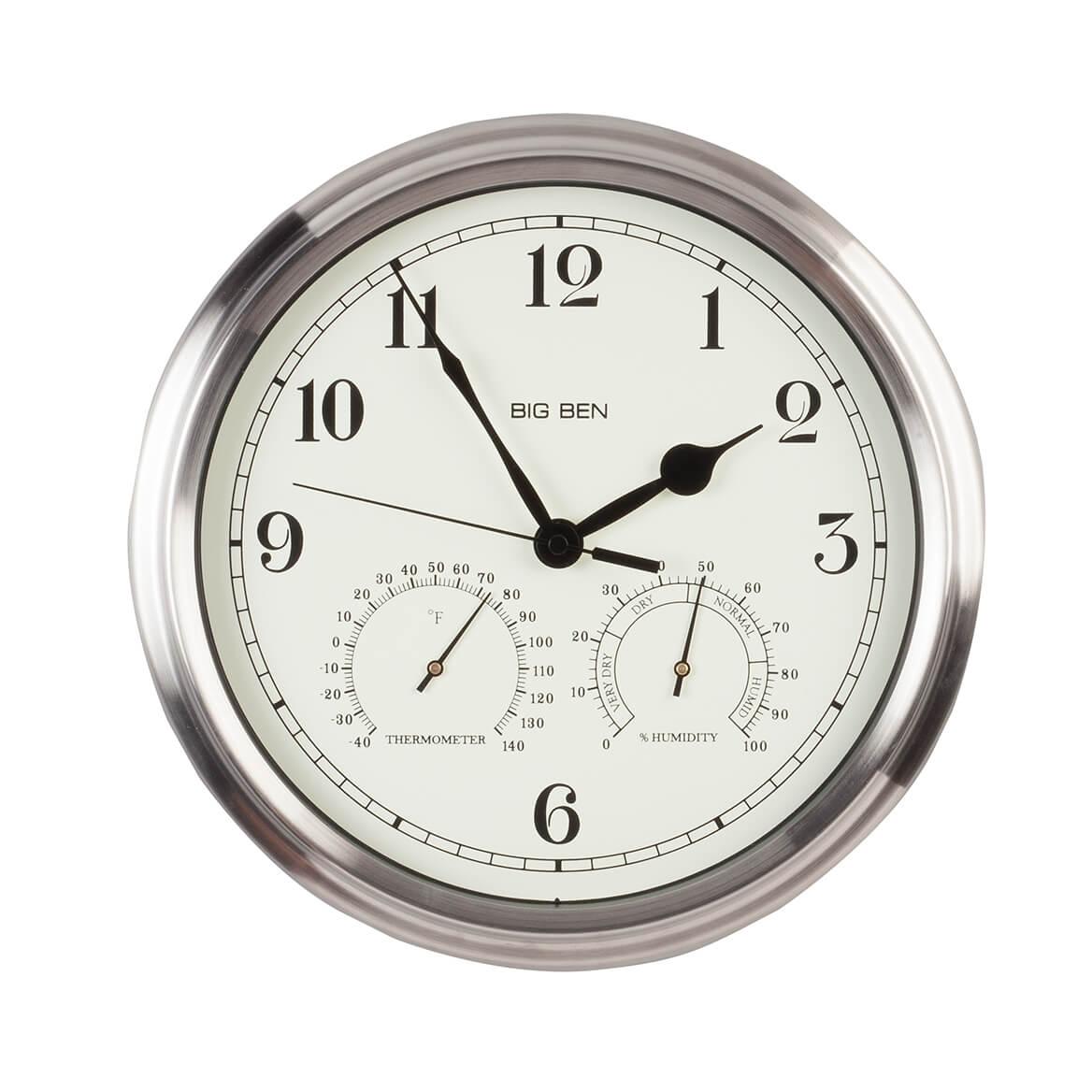 Big Ben Classic Metal Indoor/Outdoor Wall Clock