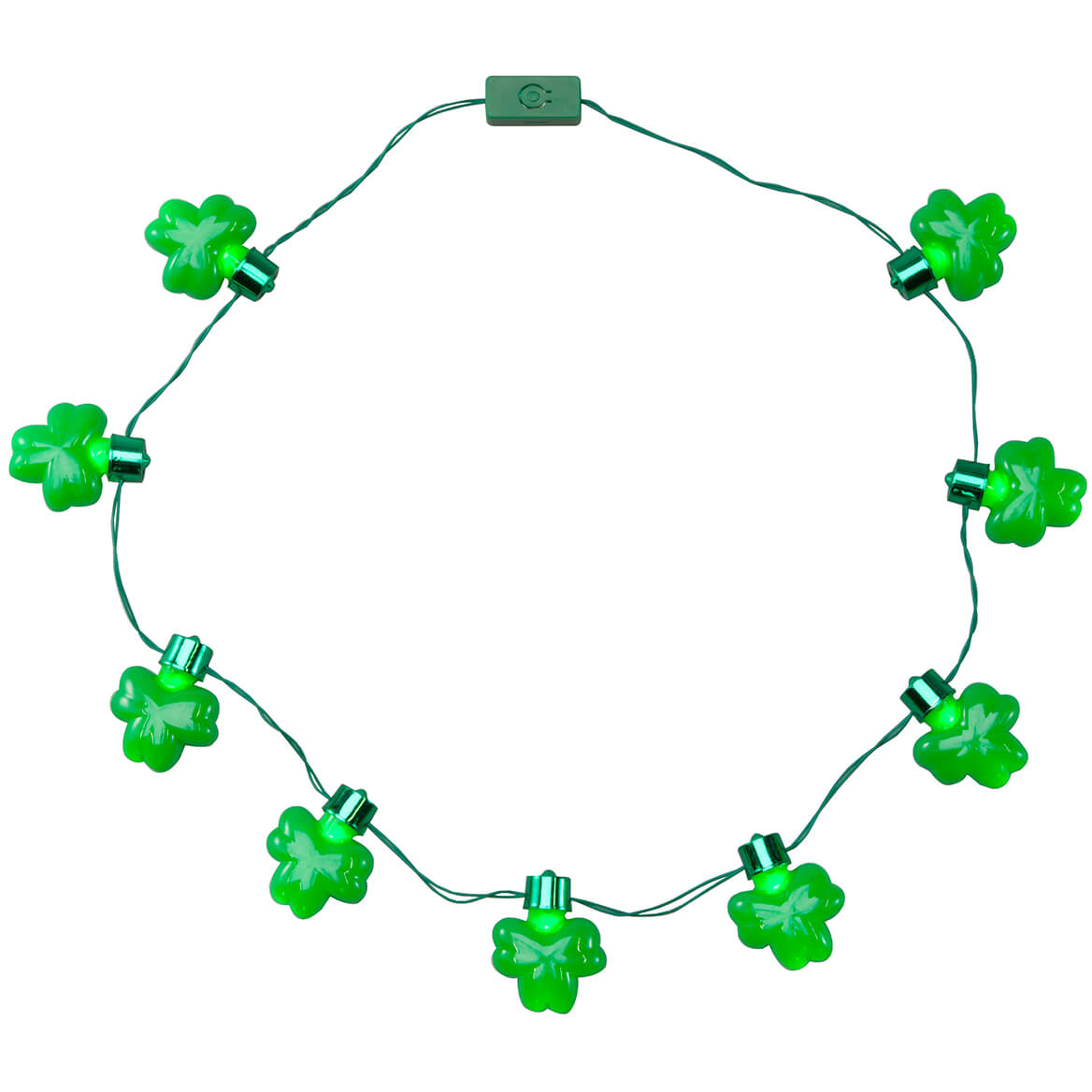 Jumbo Shamrocks Lighted Necklace