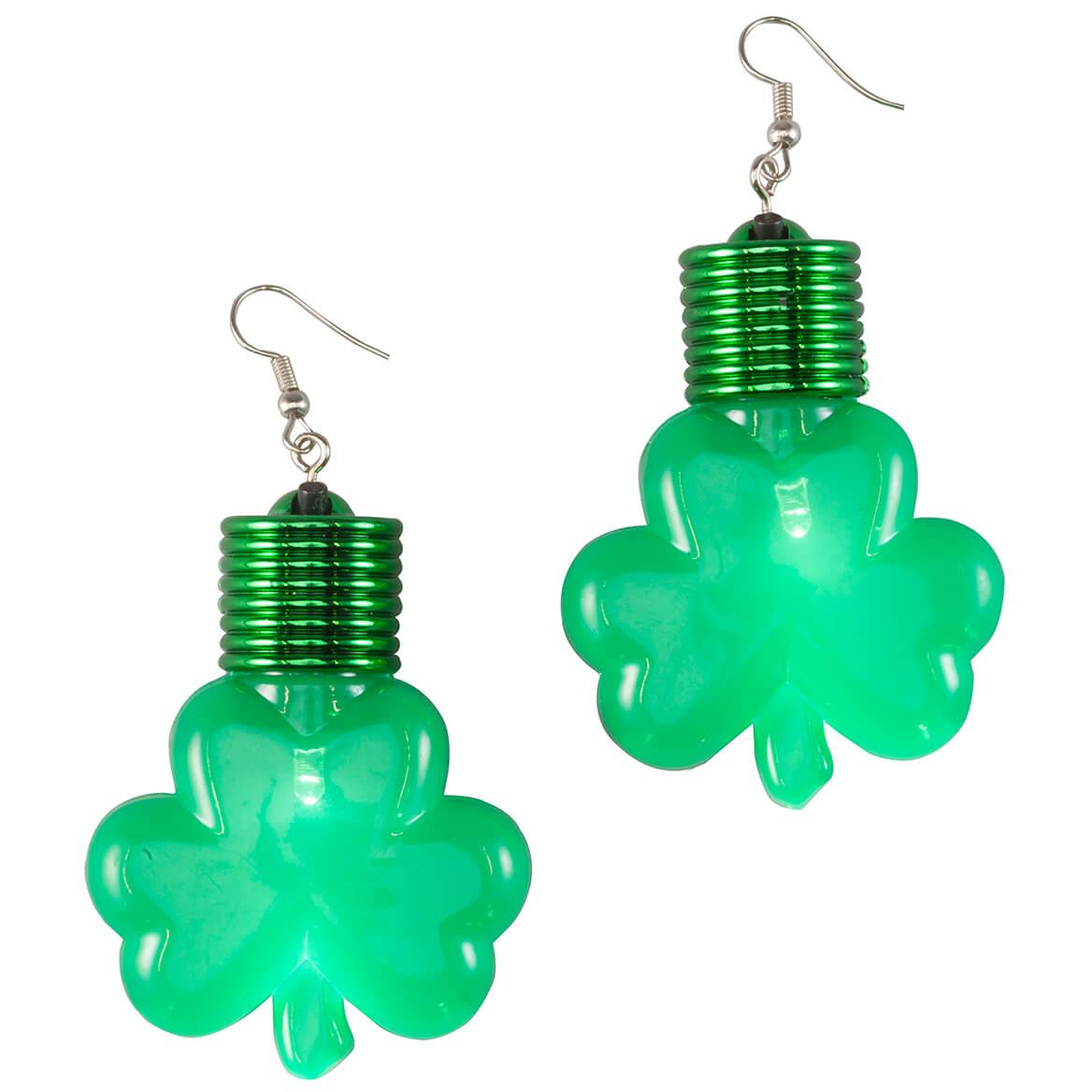 Jumbo Shamrocks Lighted Earrings