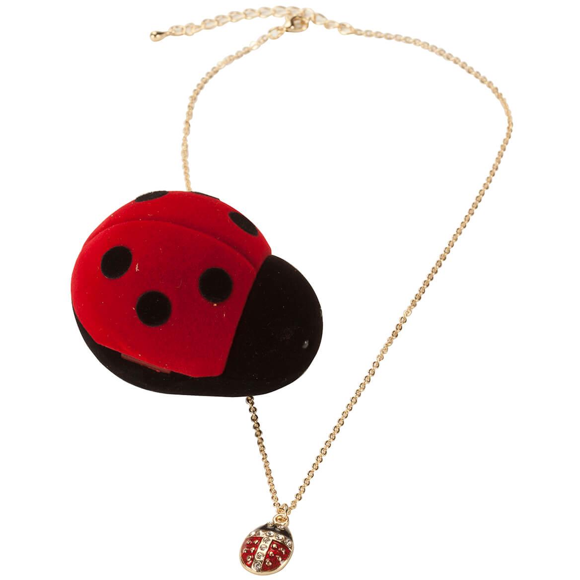 Crystal Ladybug Pendant