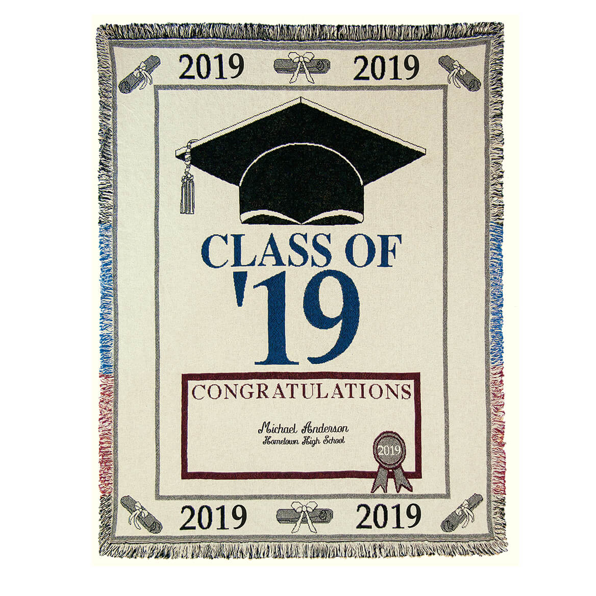 Personalized 2019 Graduation Afghan-362520