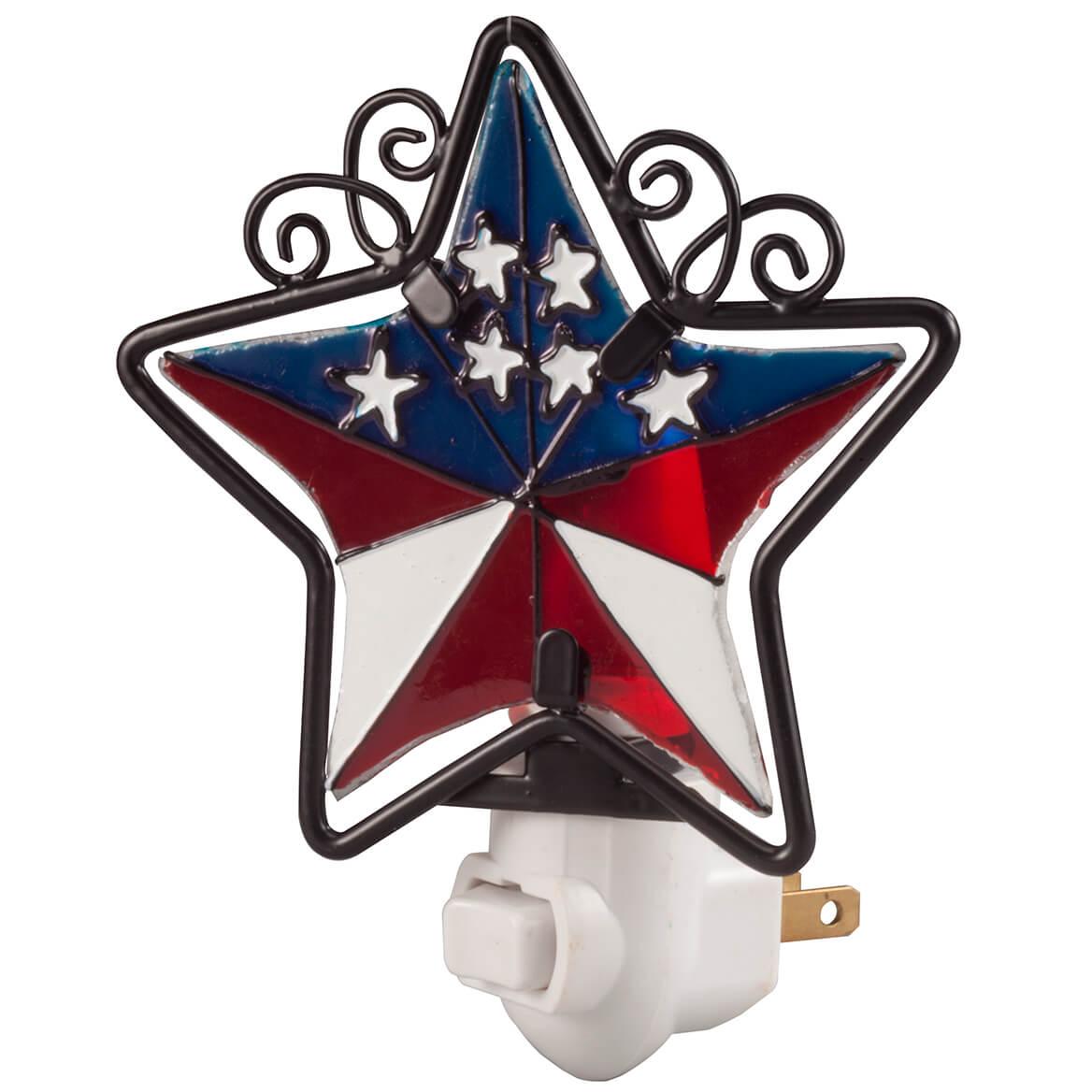 Patriotic Barn Star Night Light