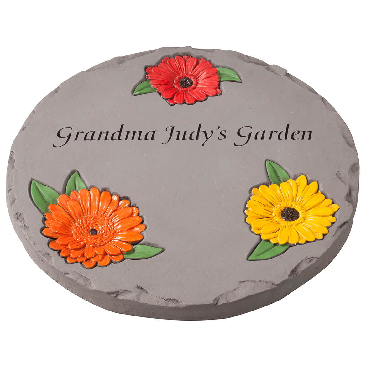"Personalized 12"" Daisy Garden Stepping Stone"