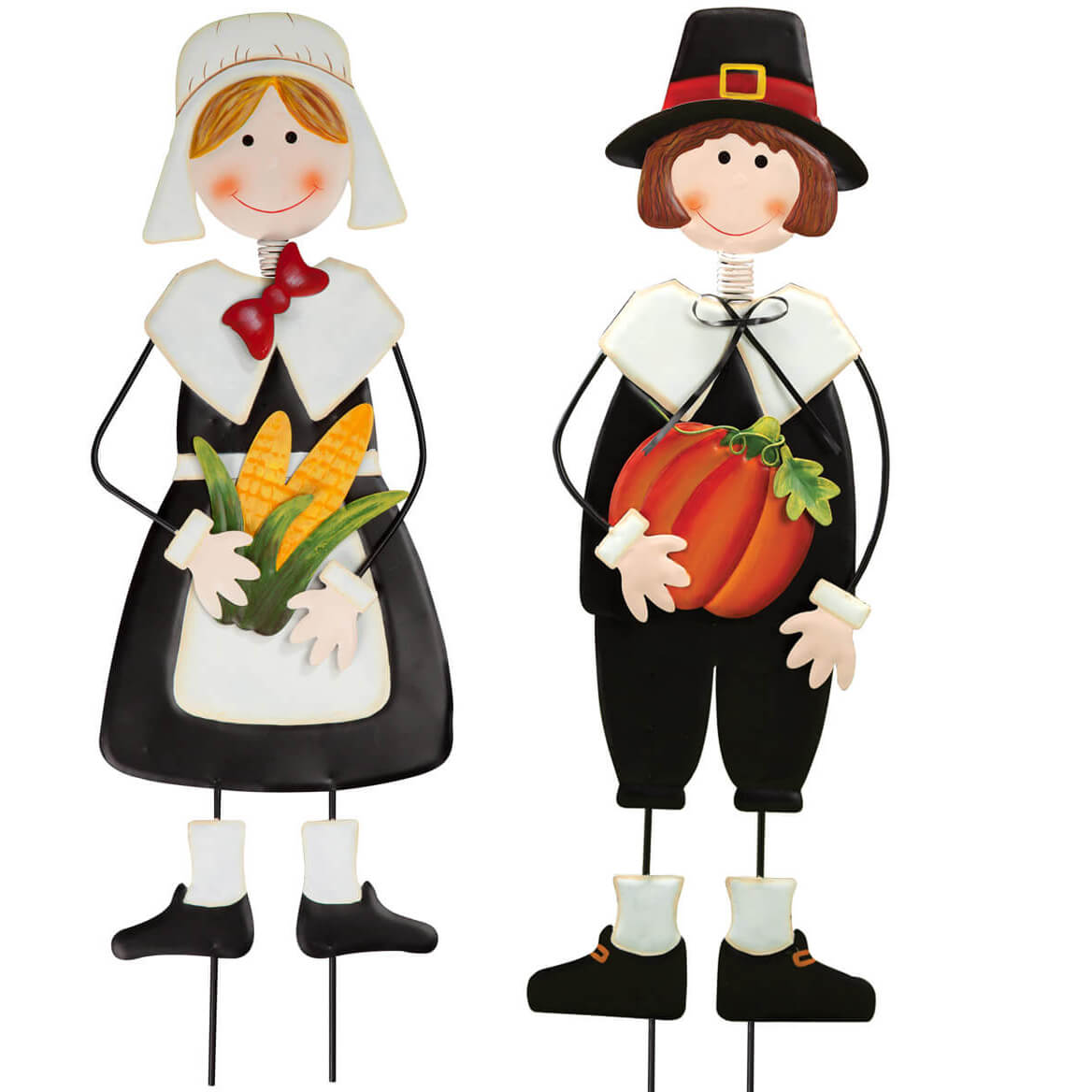 Metal Pilgrim Boy and Girl Stakes by Fox River™ Creations-362580