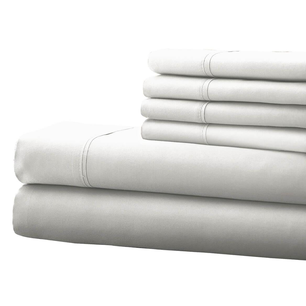 Hotel 5th Ave. 6pc Microfiber Sheet Set - White