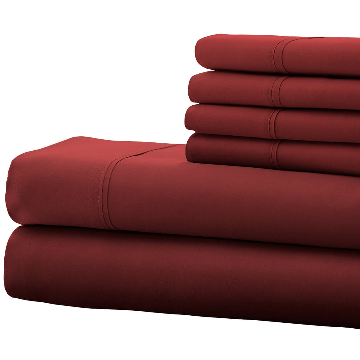 Hotel 5th Ave 4pc Microfiber Sheet Set - Burgundy