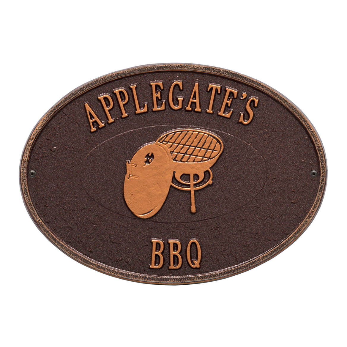 Personalized Charcoal Grill Deck Plaque