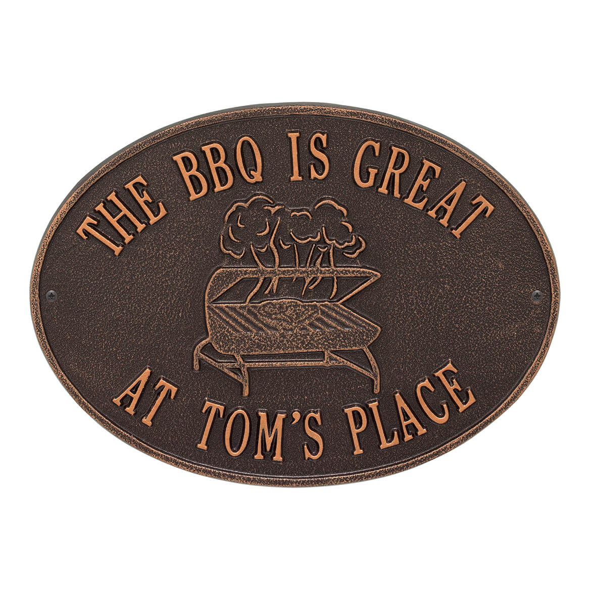 Personalized Grill Deck Plaque