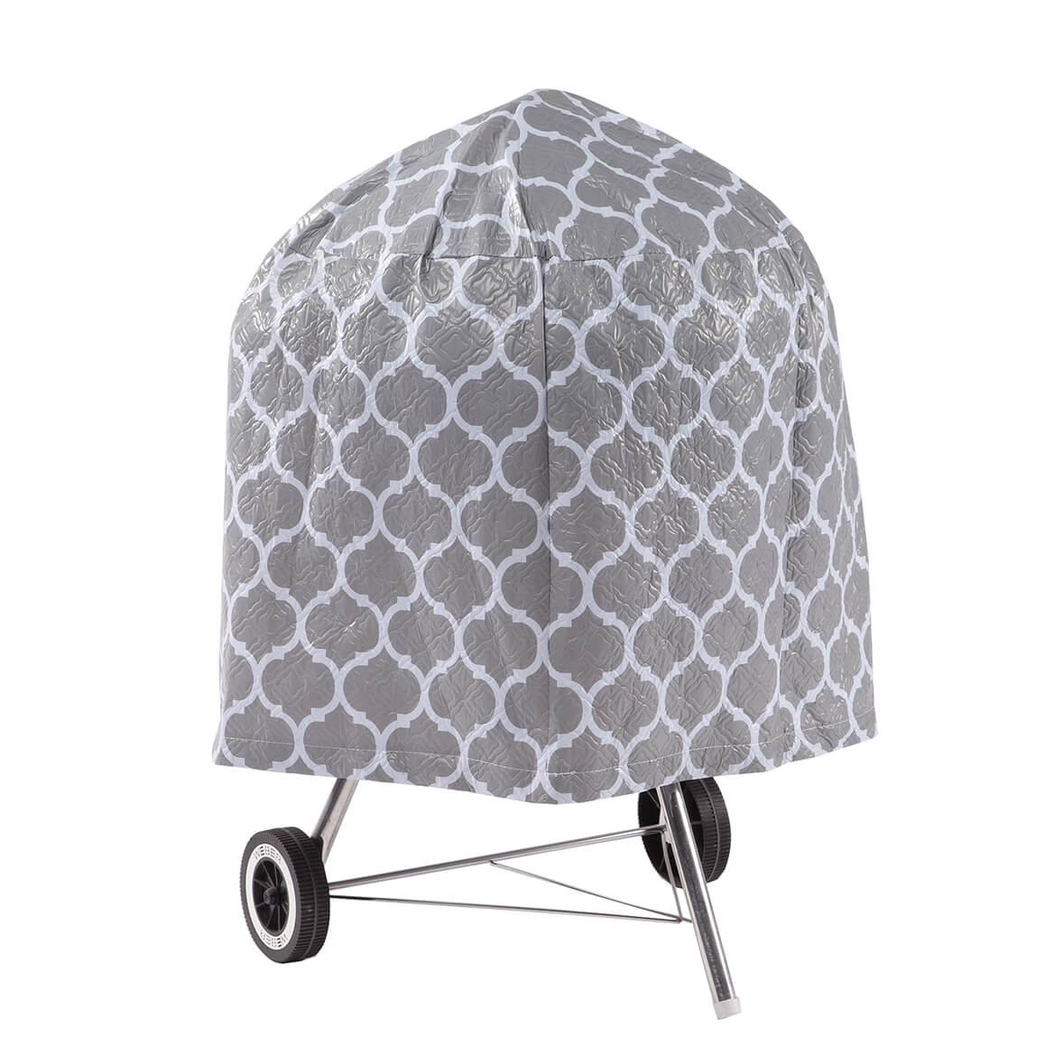 """Trellis Pattern Quilted Kettle Style Grill Cover, 23""""H x 27""""-362888"""