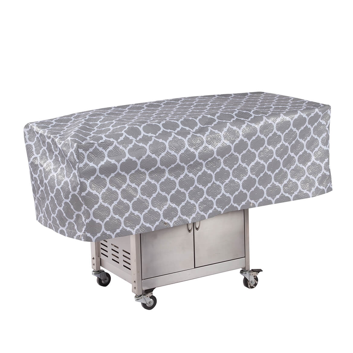 """Trellis Pattern Quilted BBQ Grill Cover, 54""""L x 18""""H x 22""""W-362889"""