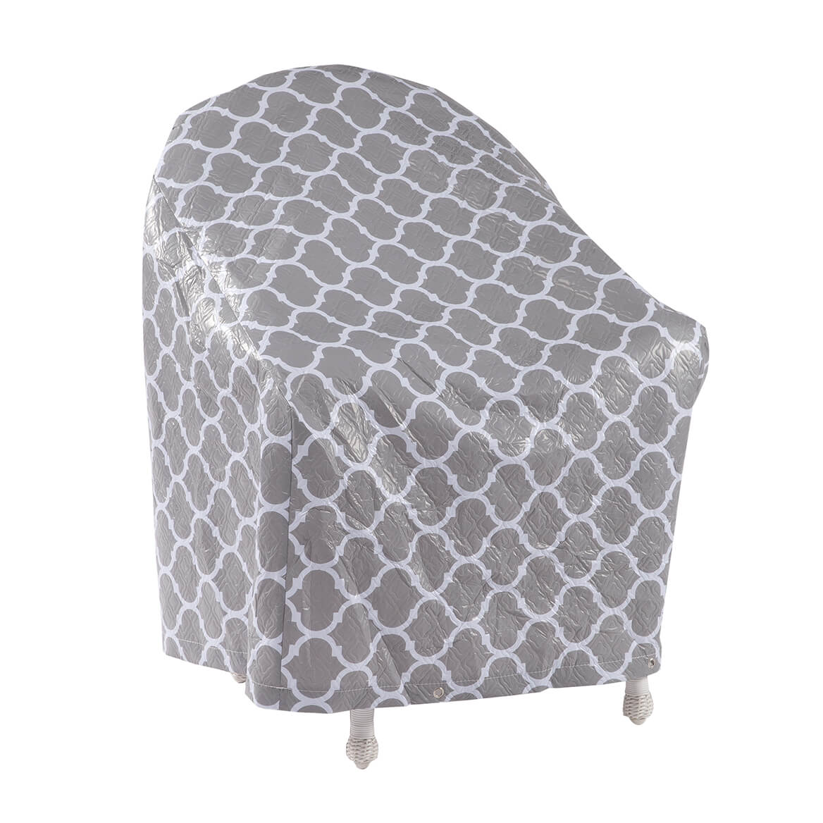 """Trellis Pattern Quilted Chair Cover, 33""""L x 33""""H x 27""""W-362893"""