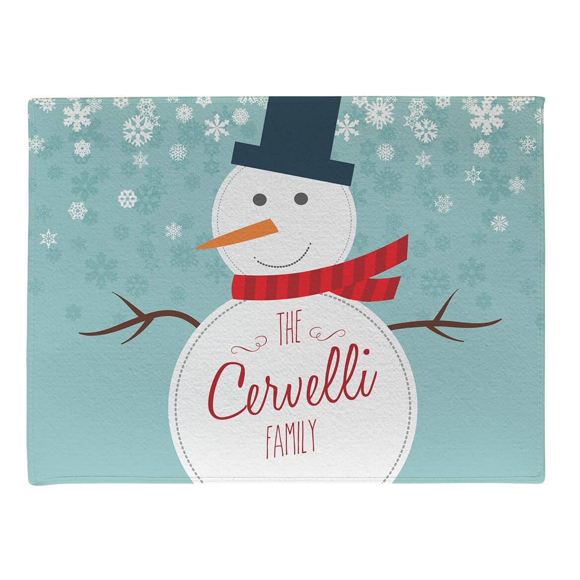 Personalized Welcome Snowman Doormat